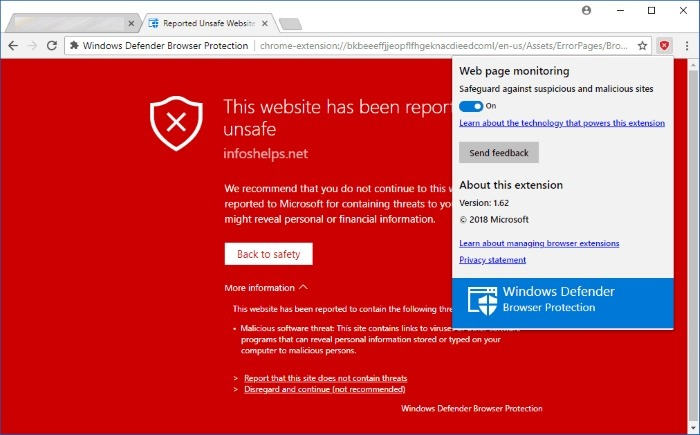 Microsoft traz extensão do Windows Defender para o Google Chrome