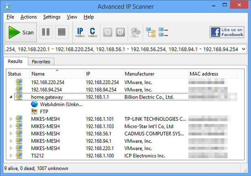 Advanced IP Scanner - Saiba quem está na sua rede